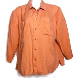 Vintage Anna and Frank 100% Silk Button Down Shirt